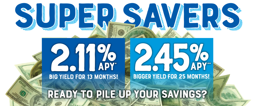 Super Saver CD with rate