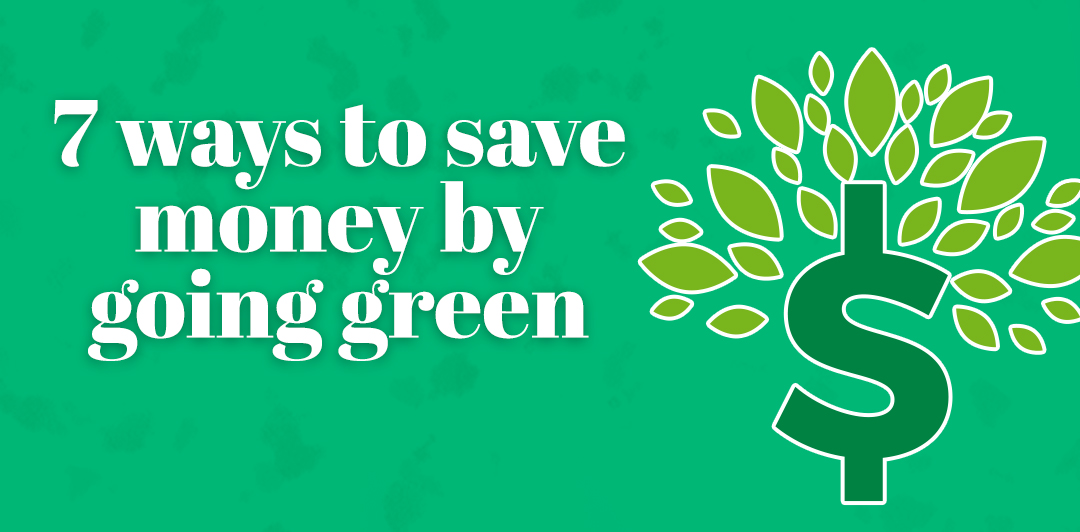 Seven ways to save money by going green